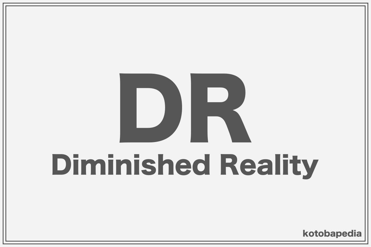 Diminished Reality